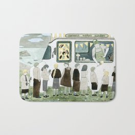 Ice Cream Queue Bath Mat