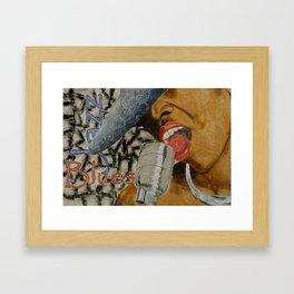 Jazzy Blues Framed Art Print