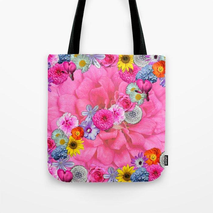 Flower power pink Tote Bag