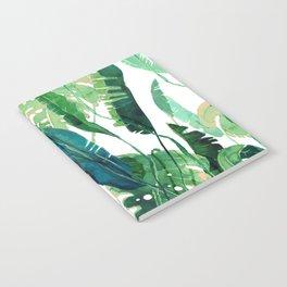 vertical green leaves Notebook