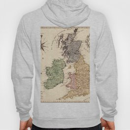 Map Of Great Britain 1795 Hoody