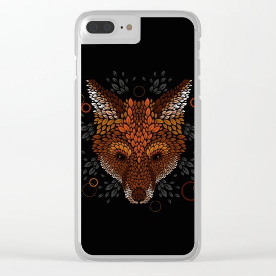 Fox Face Clear iPhone Case