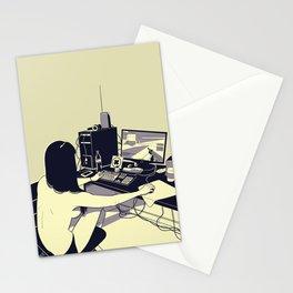 Gamer girl Stationery Cards