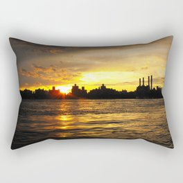 New York Sunset Rectangular Pillow