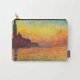 Claude Monet Sunset In Venice Carry-All Pouch