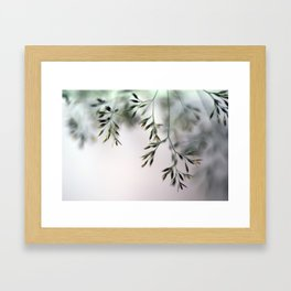 macro grass Framed Art Print