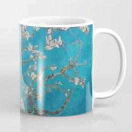 Vincent van Gogh Blossoming Almond Tree (Almond Blossoms) Medium Blue Coffee Mug