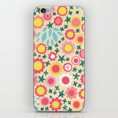 Crowded Colourful Flowers iPhone Skin