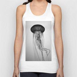 Jellyfish Black and White Unisex Tank Top
