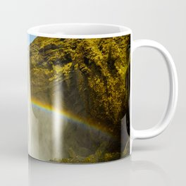 Skogafoss Rainbow Iceland Waterfall Beautiful Summer Landscape Coffee Mug