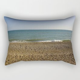 Evening Tide on a cobbled beach Rectangular Pillow