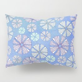 sea urchin blue watercolor Pillow Sham