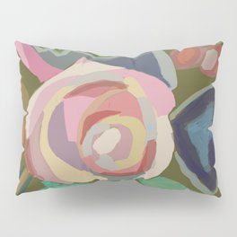Organic abstract floral Pillow Sham