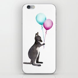 Wallaby With Balloons iPhone Skin