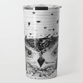 """SWOOP"" Black & White Travel Mug"