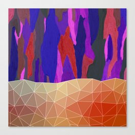 Abstract Colorful Pastel look Design Canvas Print