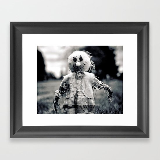 Cemetery smiley face Framed Art Print