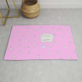 NORMAL IS BORING PINK Rug