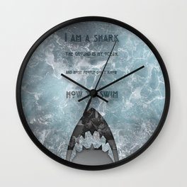 BJJ Motivational Quote Series 3/10 Wall Clock