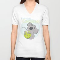 coconut wishes V-neck T-shirts featuring Dear Coconut by Mr. Peaches ®