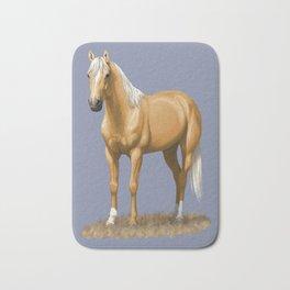 Beautiful Palomino Quarter Horse Bath Mat
