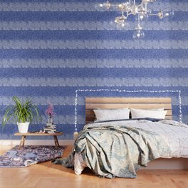 sarasa paisley all over in blues Wallpaper