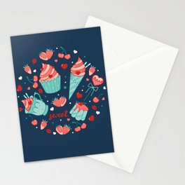 Valentine's sweets - Blue Stationery Cards