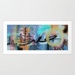 Pacific Northwest Vibes - Abstract Trees - Digital Art Art Print