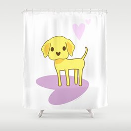 Lilah the Lab Shower Curtain