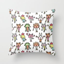 CRAZY FARM Throw Pillow