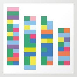 Color Code Blocks Art Print