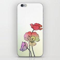 Three Poppies iPhone & iPod Skin