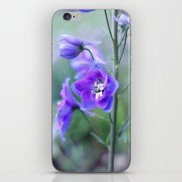Delphinium Flower - Up Close iPhone Skin