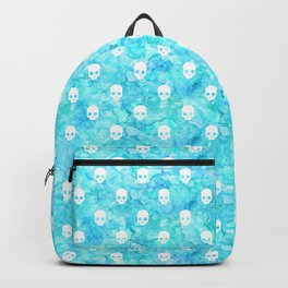 Watercolor sea with skulls Backpack