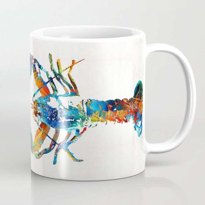 Colorful Lobster Art By Sharon Mings Coffee Mug Sharonmings