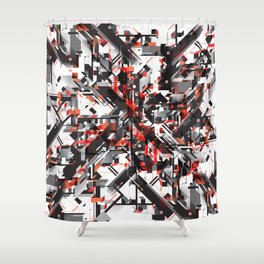 Space distortion Shower Curtain