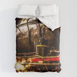 Vintage Steam Engine Locomotive - In Steam Comforters