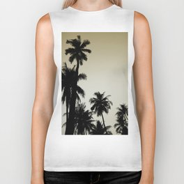 Tropical palm trees on yellow Biker Tank
