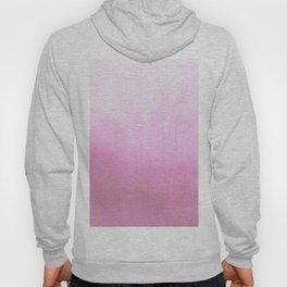 Blush pink modern watercolor paint brushstrokes pattern Hoody