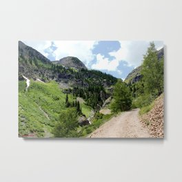 Old Wagon Road to the Silver Crown and Silver Cloud Gold Mines Metal Print