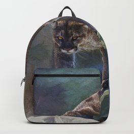 The Mountain King - Cougar Wildlife Art Backpack