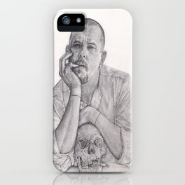 Alexander McQueen Savage Beauty Drawing iPhone Case