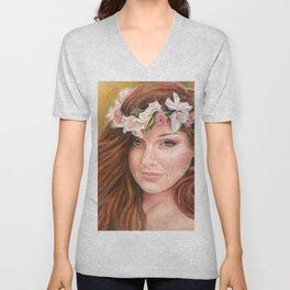 Flower Child by Laurie Leigh Unisex V-Neck