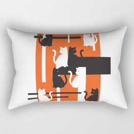 Cat in De Stijl - Halloween Edition Rectangular Pillow