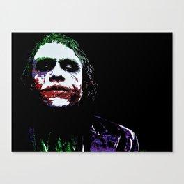 Heath's Joker Pop art Portrait Canvas Print