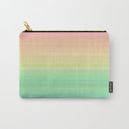Abstract Pastel Rainbow II Pretty gradient stripes Carry-All Pouch