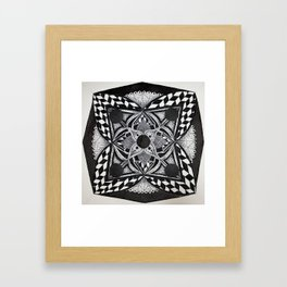 B&W Mandala Framed Art Print