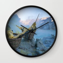 Ijen, Indonesia Wall Clock