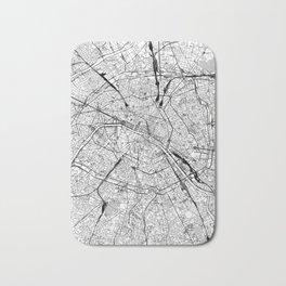 Paris White Map Bath Mat