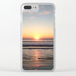 Sunrise reflection Clear iPhone Case